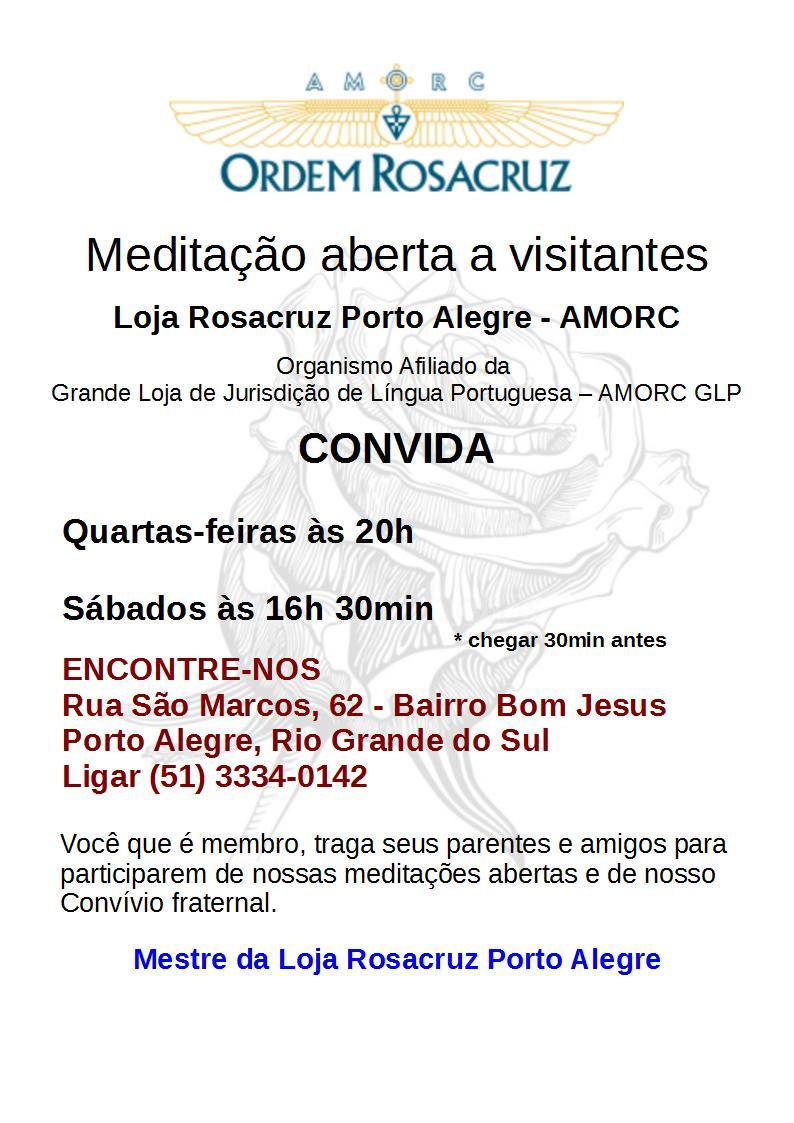 CONVITE MEDITAÇÃO ABERTA QUA E SAB